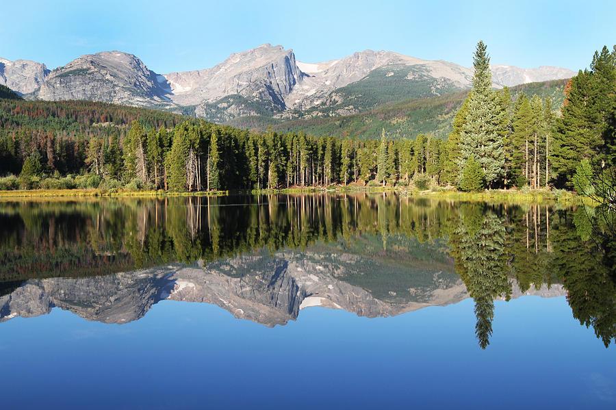 Lakes Photograph - Sprague Lake Rocky Mountains by David Yunker