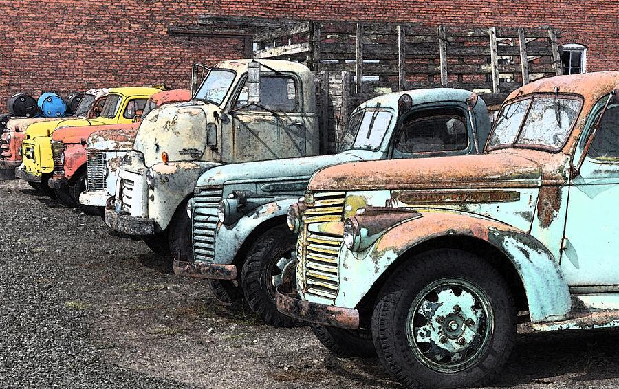 Sprague Trucks Photograph by Brent Easley