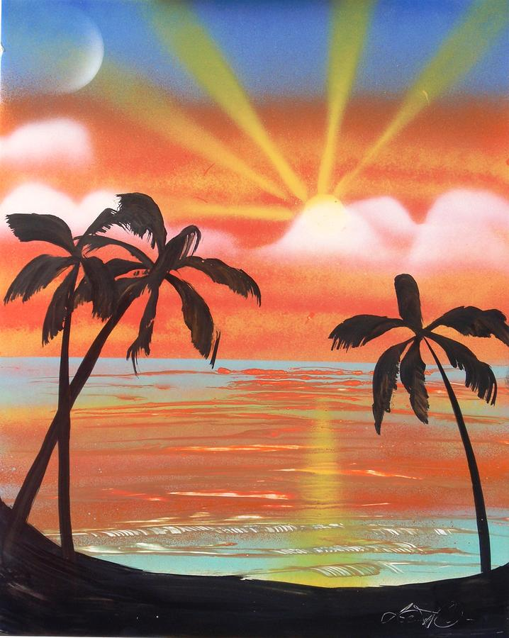 Tropic Painting - Spray Art by Lane Owen