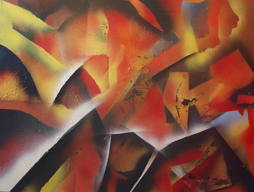 Spray Art6 Painting by Morten Gaarden