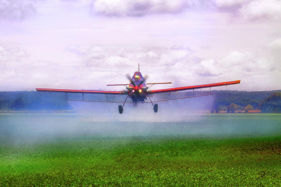 Crop Duster Photograph - Spraying The Fields - Crop Duster - Aviation by Jason Politte