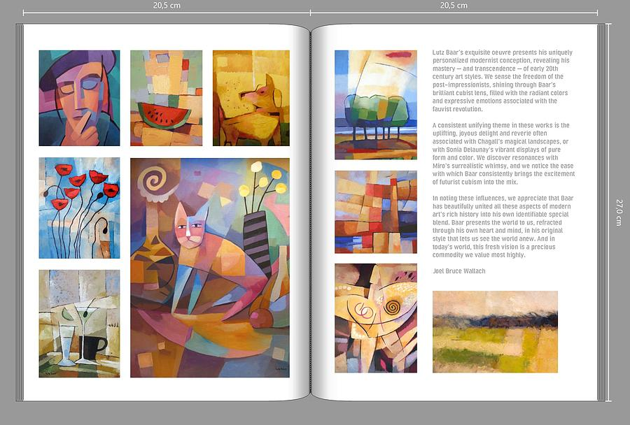 Art-Book spread  by Lutz Baar