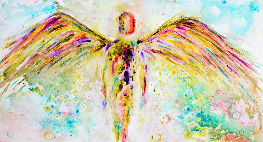 Angel Painting - Spread the Love by Ivan Guaderrama