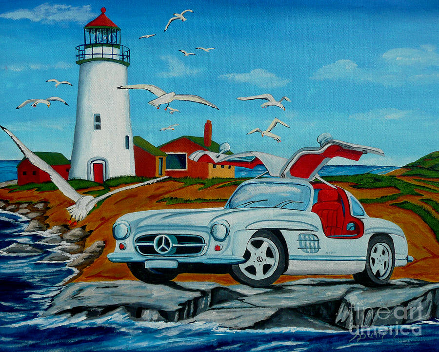 Mercedes Painting - Spread Your Wings by Anthony Dunphy