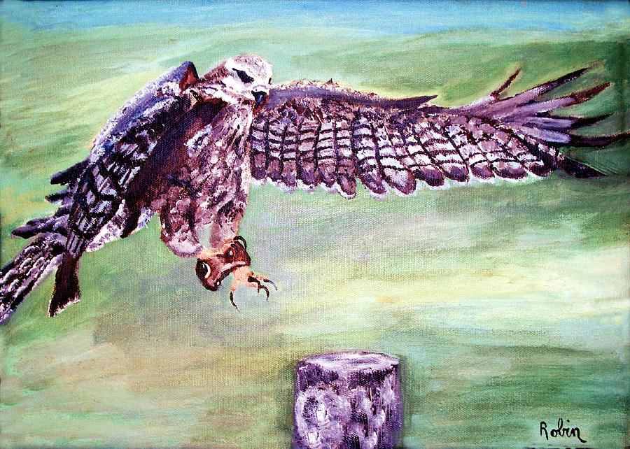 Osprey Painting - Spread Your Wings by Robin Monroe