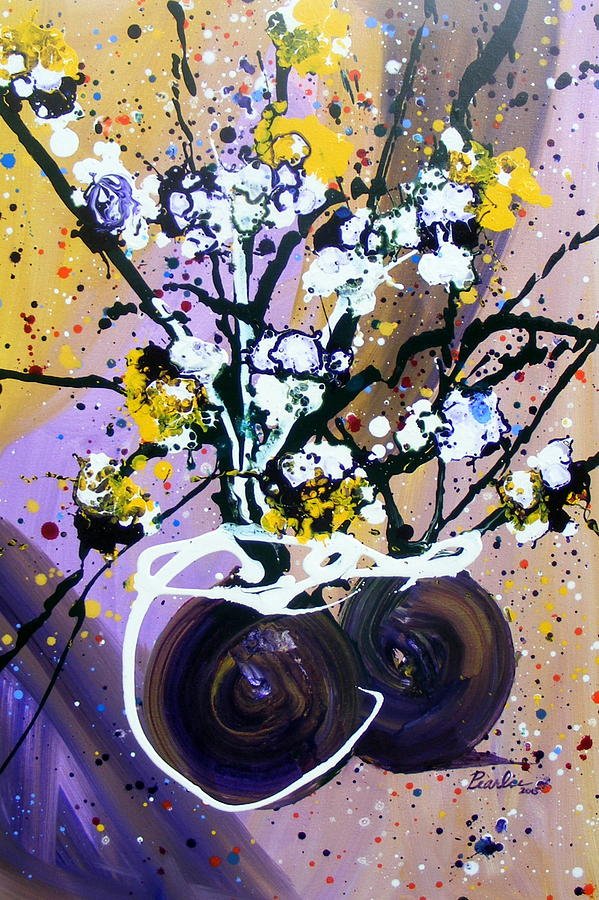 White Flowers Painting - Spreading Joy by Pearlie Taylor
