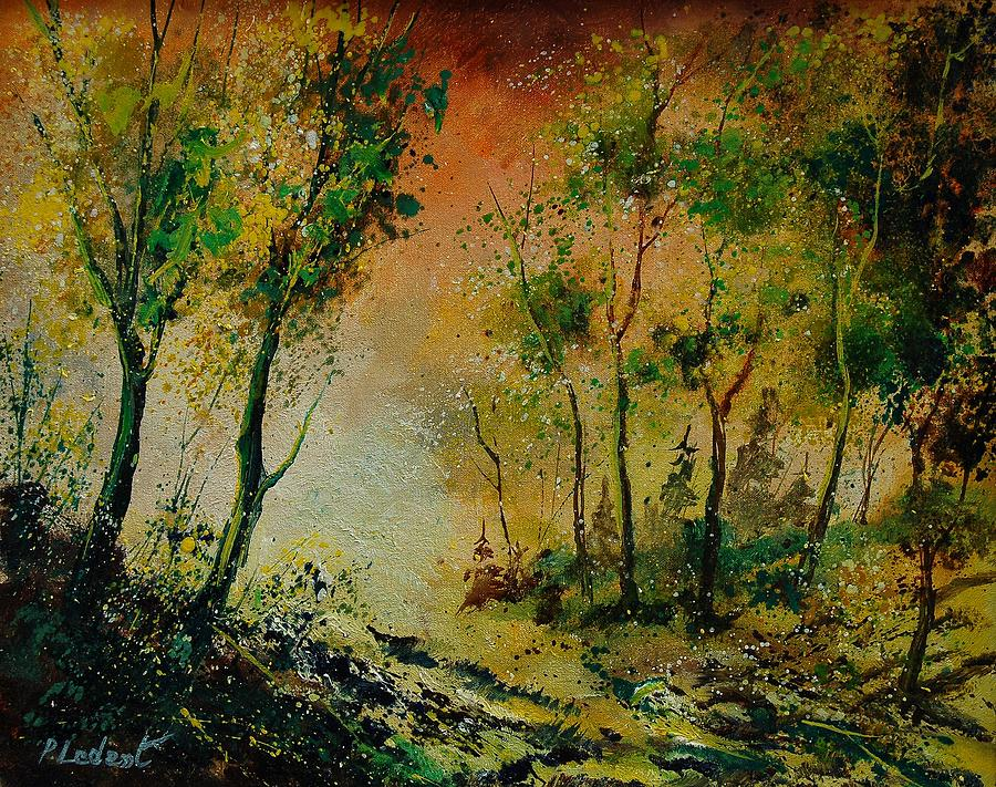 Spring Painting - Sprin In Wood 45 by Pol Ledent