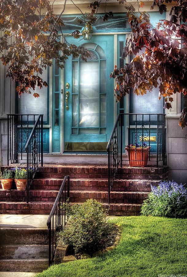 Savad Photograph - Spring - Door - Apartment by Mike Savad