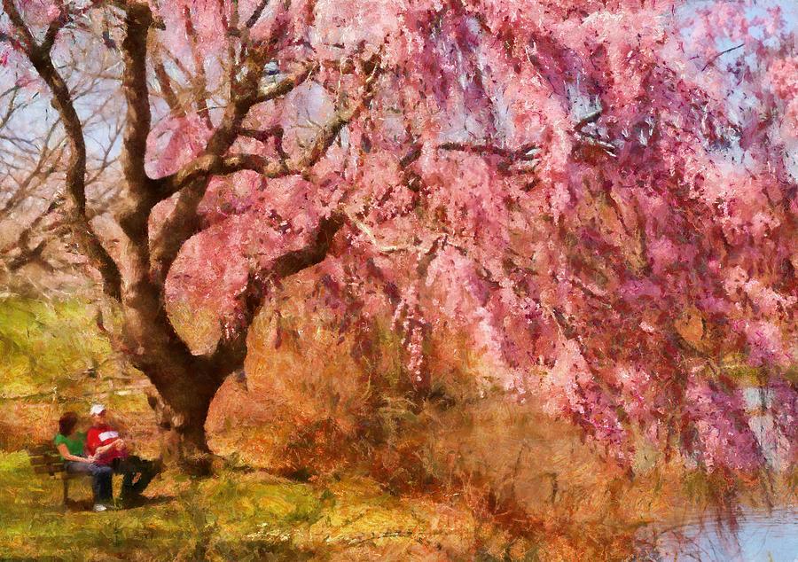 Suburbanscenes Photograph - Spring - Sakura - A Beautiful Spring Day  by Mike Savad