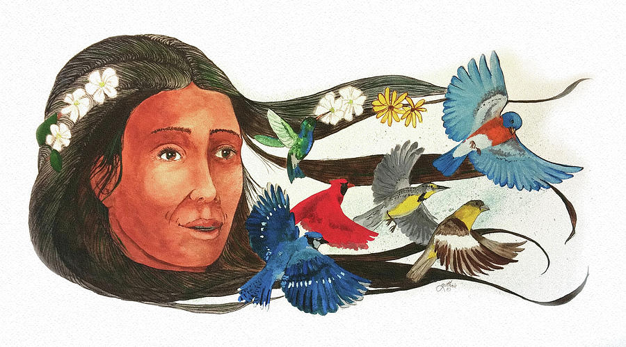 Cherokee Painting - Spring and the Birds of Summer by John Guthrie