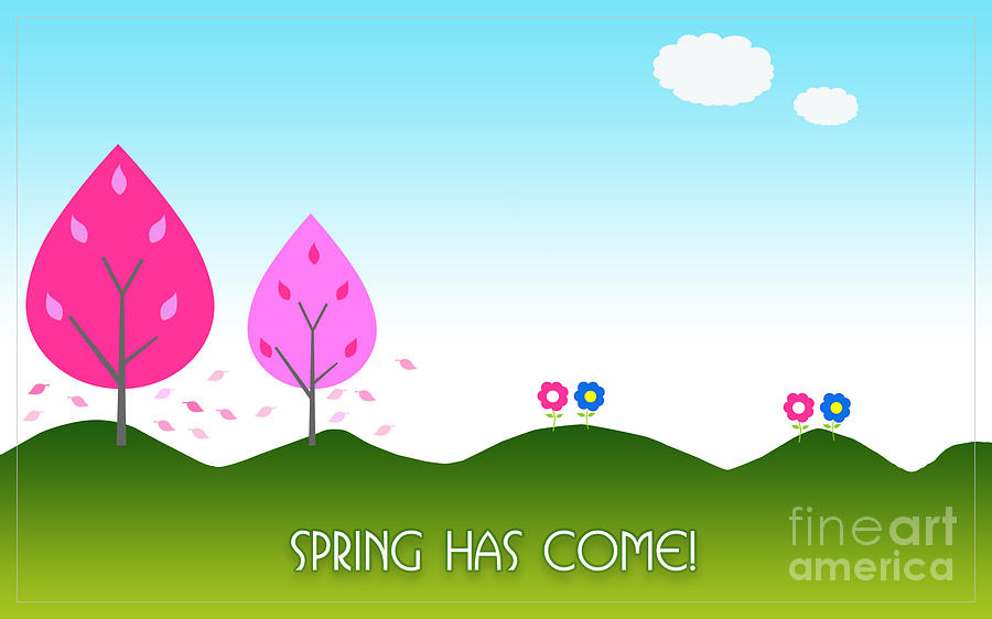 Spring As Come Card by Scott Parker