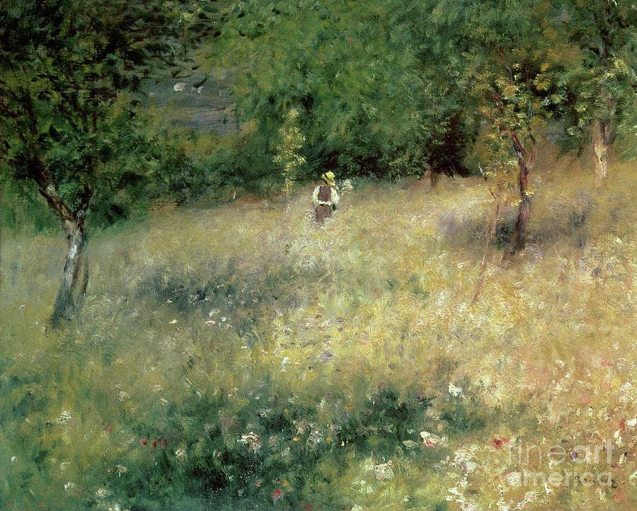 Renoir Painting - Spring At Chatou by Pierre Auguste Renoir