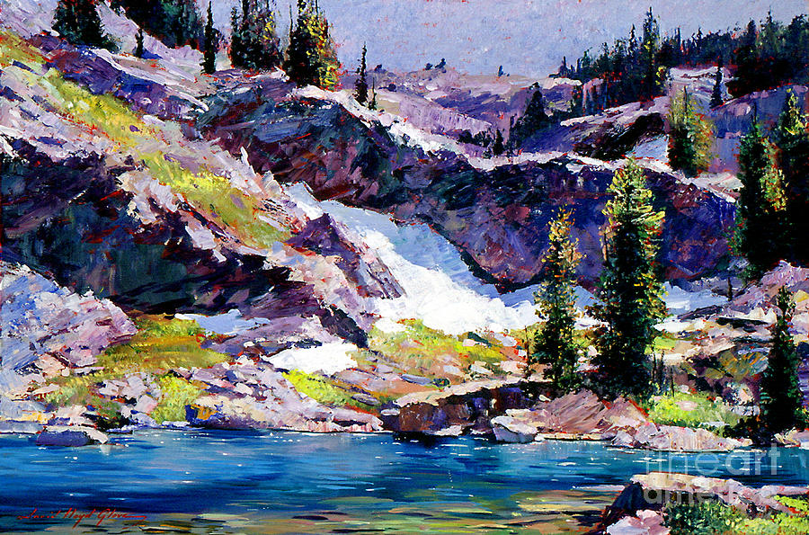 Lakes Painting - Spring At Jade Lake by David Lloyd Glover