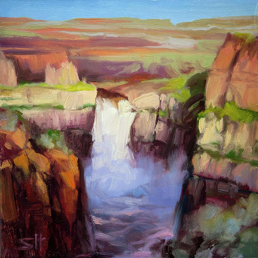 Spring At Palouse Falls Painting