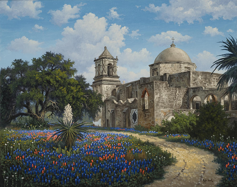 Bluebonnets Painting - Spring At San Jose by Kyle Wood