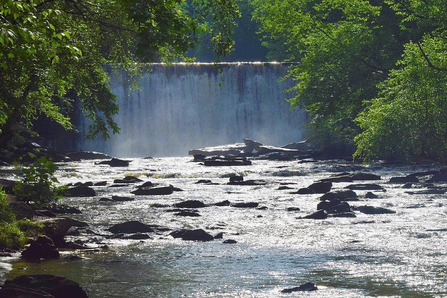 Spring At The Vickery Creek Waterfall Photograph