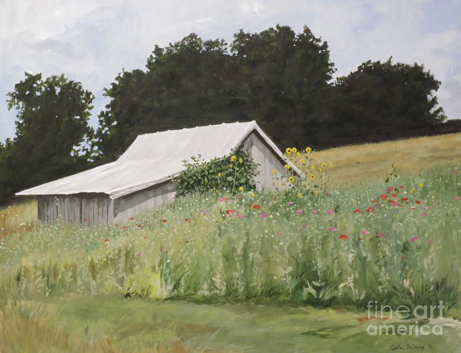 Lanscape Painting - Enveloped By Wildflowers by Carla Dabney