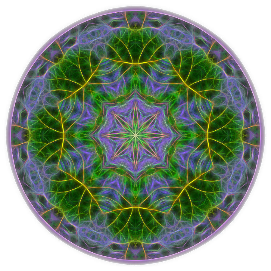 Spring Bloom Colors Mandala by Beth Sawickie