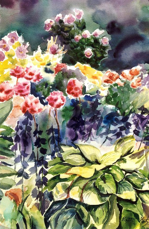 Spring Garden Painting - Spring Blooms by Heather Kertzer