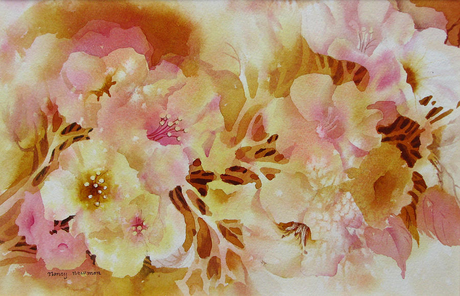 Spring-blooms Painting by Nancy Newman