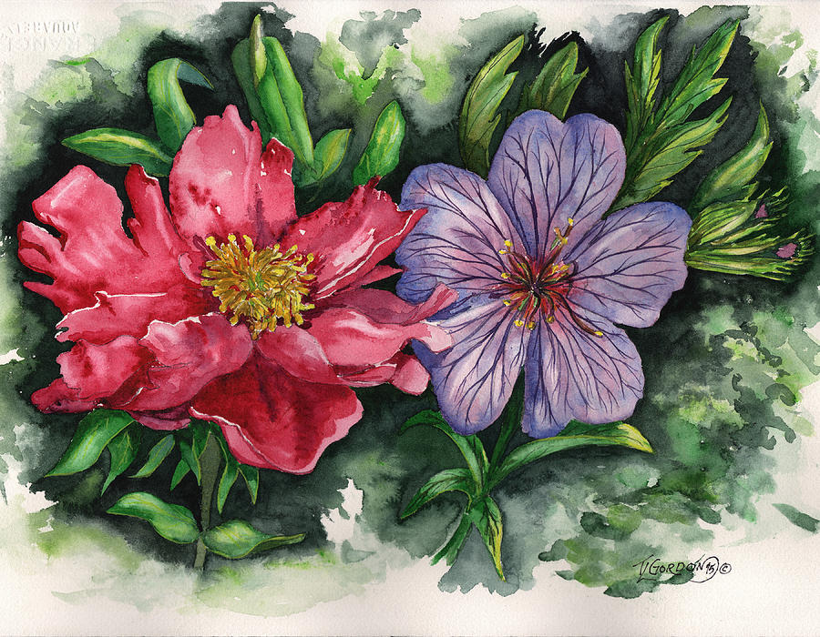 Tim Painting - Spring Blooms by Timithy L Gordon