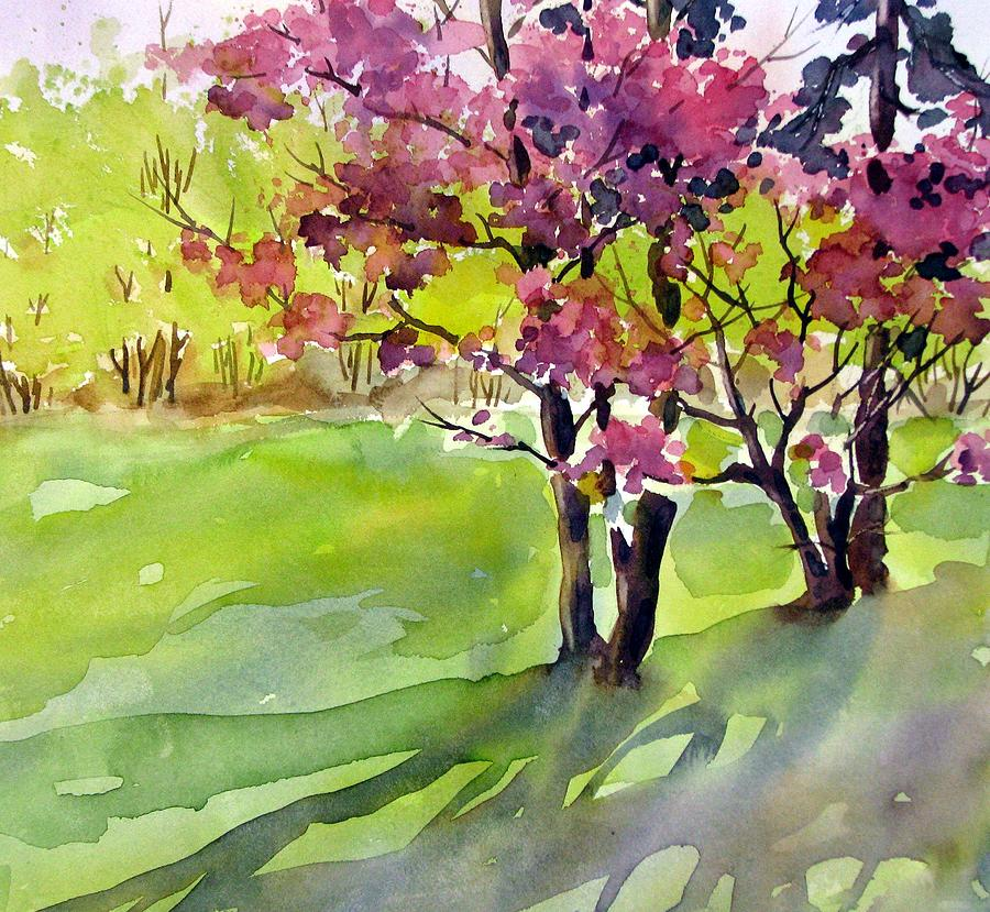 Watercolor Painting - Spring Blossoms by Chito Gonzaga