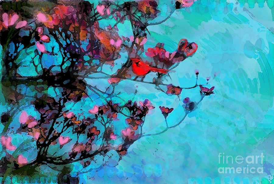 Birds Photograph - Spring Blossoms by Gina Signore