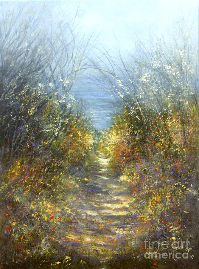 Landscape Painting - Spring Blosssom by Valerie Travers