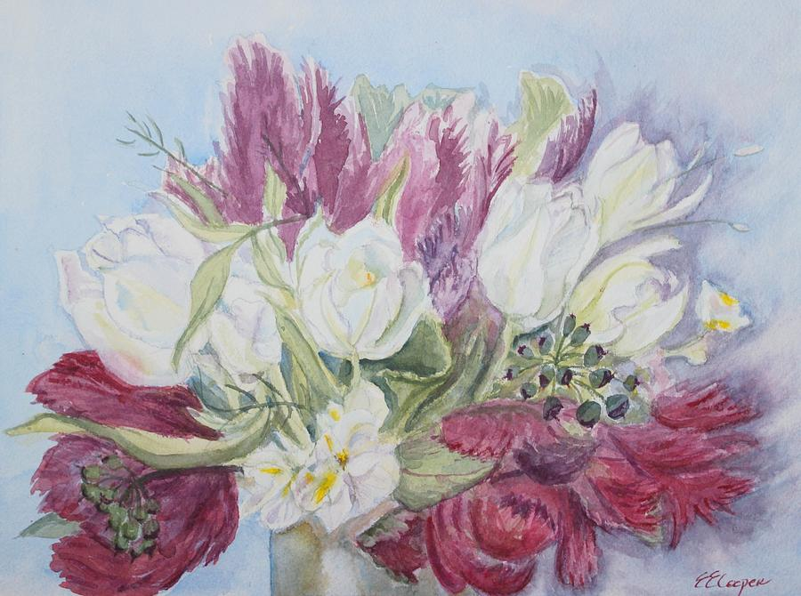 Spring Painting - Spring Bouquet by Erin Hollon