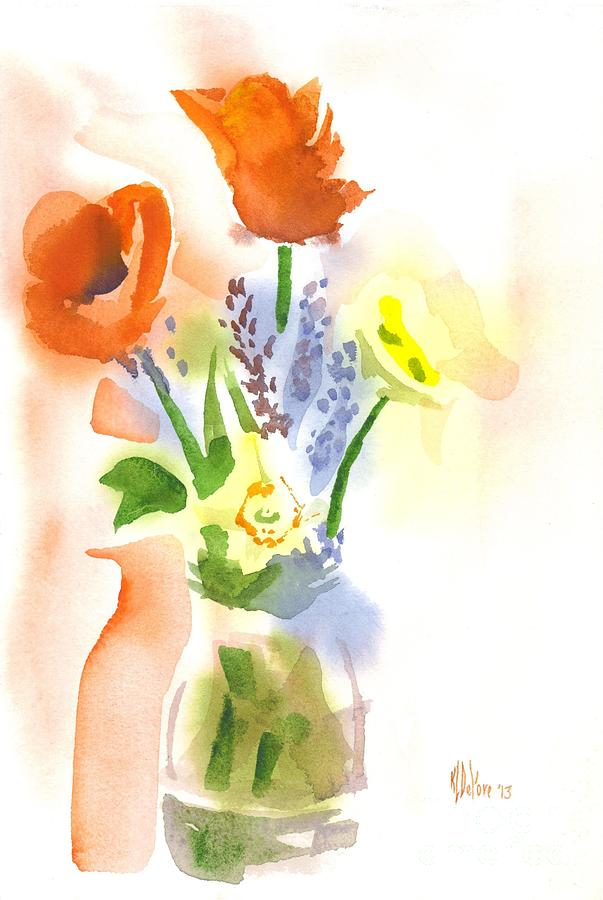 Red Painting - Spring Bouquet II by Kip DeVore