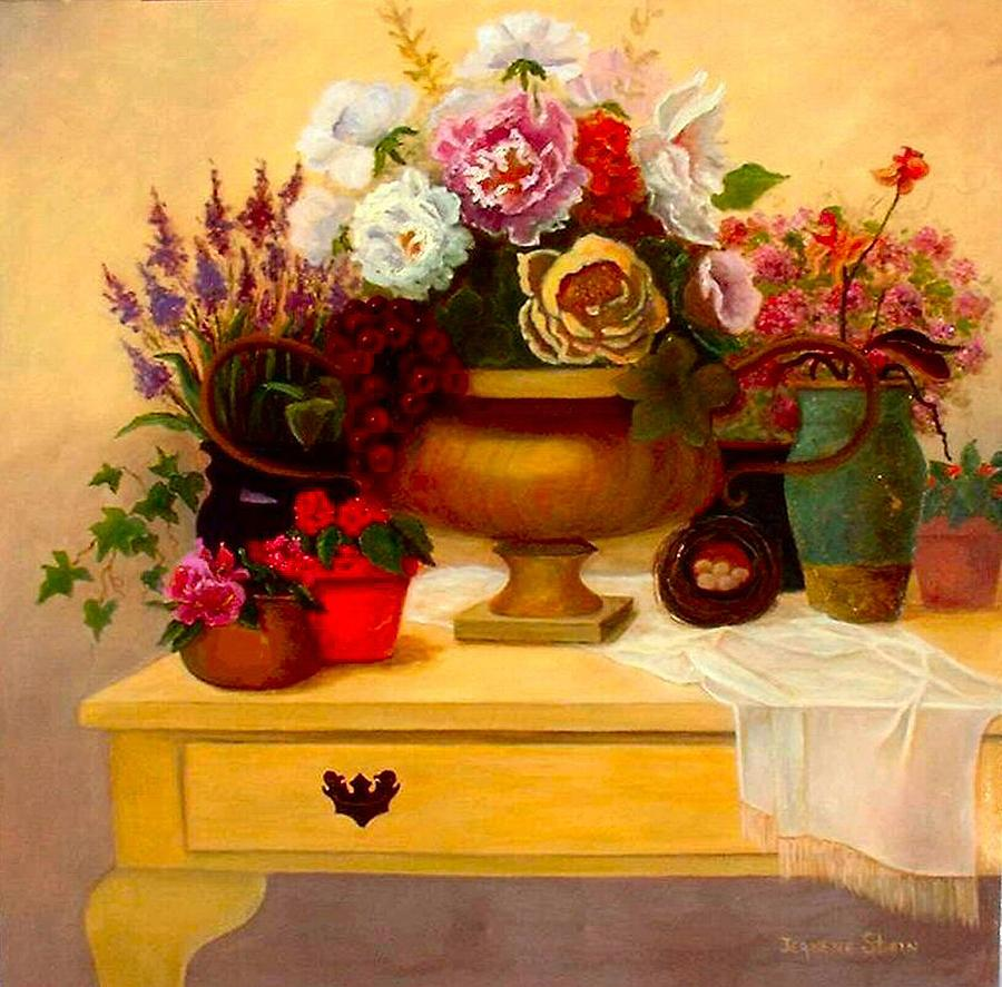 Still Life Painting - Spring Bouquet by Jeanene Stein
