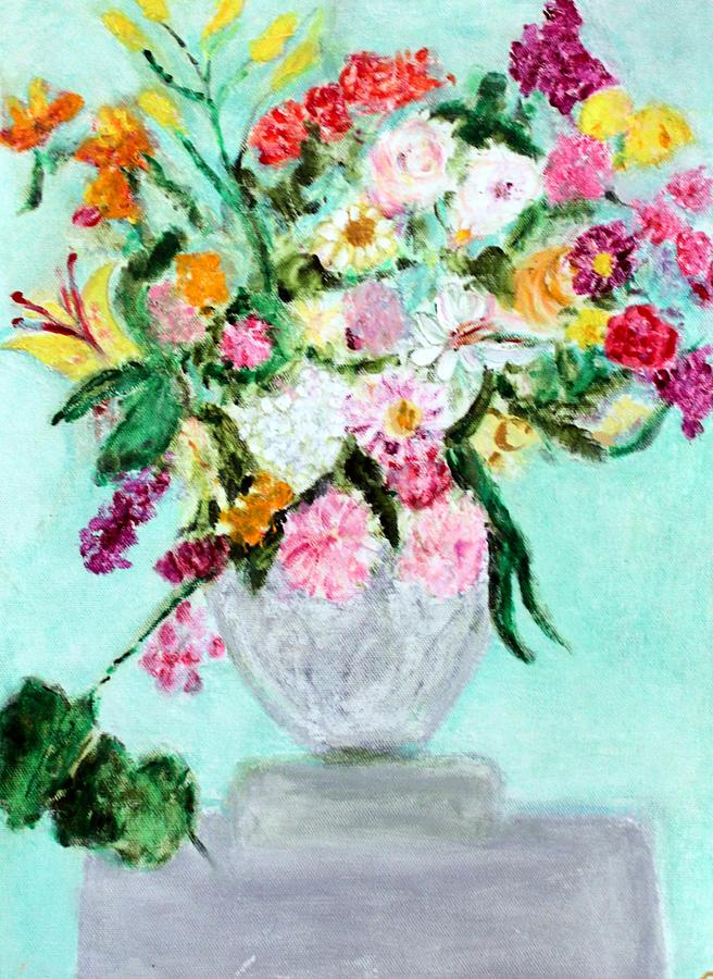 Still Life Painting - Spring Bouquet by Michela Akers