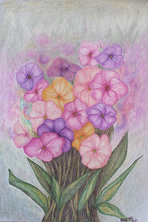 Flowers Mixed Media - Spring Bouquet  by Norma Duch