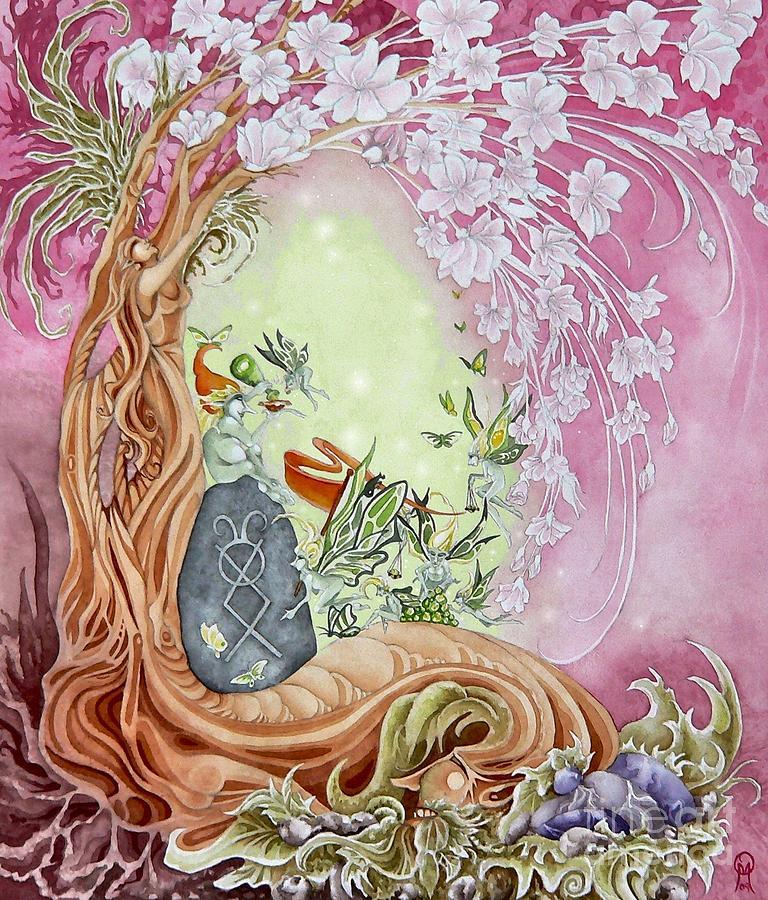 Faery Painting - Spring Break Faeries by Ora  Moon