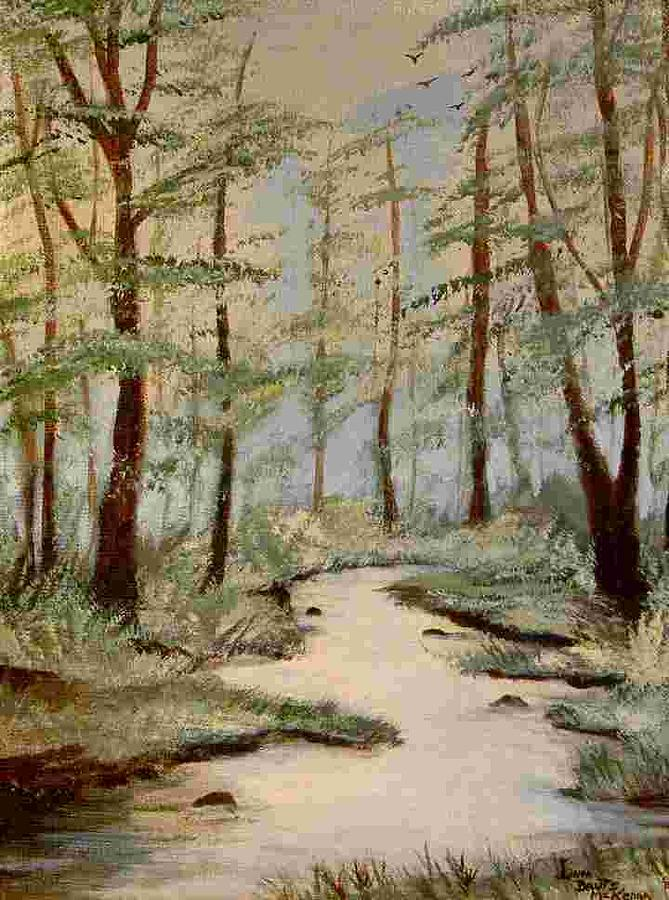 Landscape Painting - Spring Brook by Linda McKenna