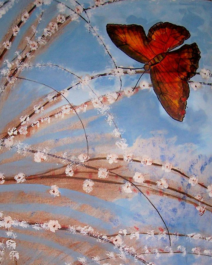 Butterfly Painting - Spring Butterfly by Martha Mullins