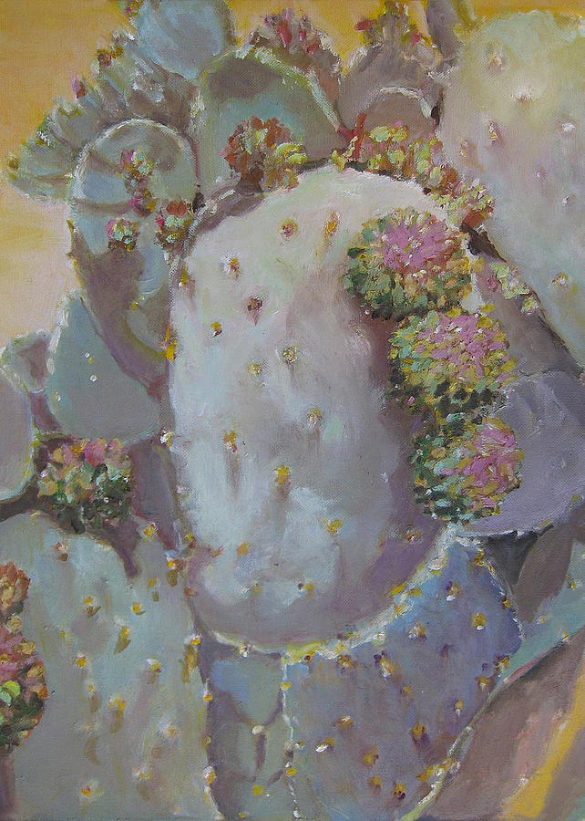 Spring Cactus Fruit Painting by Julie Todd-Cundiff