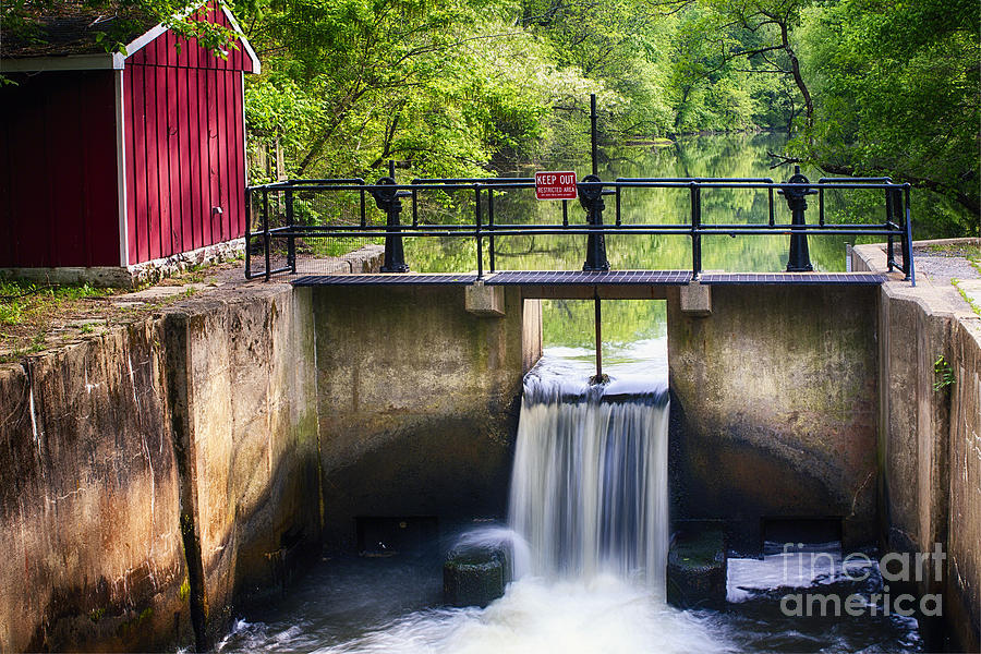 D&r Canal Photograph - Spring Canal Lock Scene  by George Oze