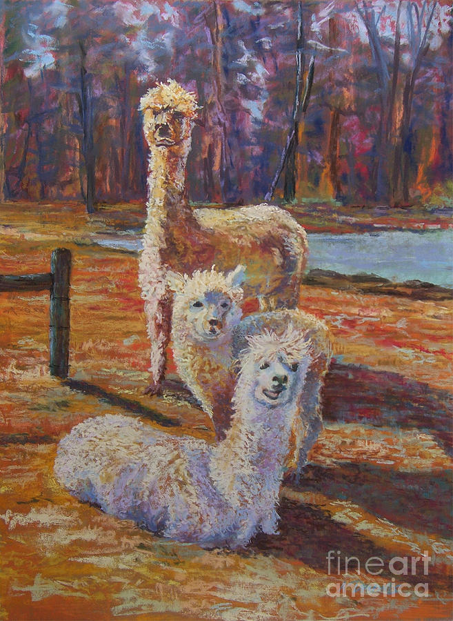 Alpaca Pastel - Spring Celebration - Mothers And Child by Alicia Drakiotes