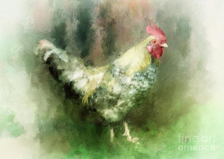 Chicken Digital Art - Spring Chicken by Lois Bryan