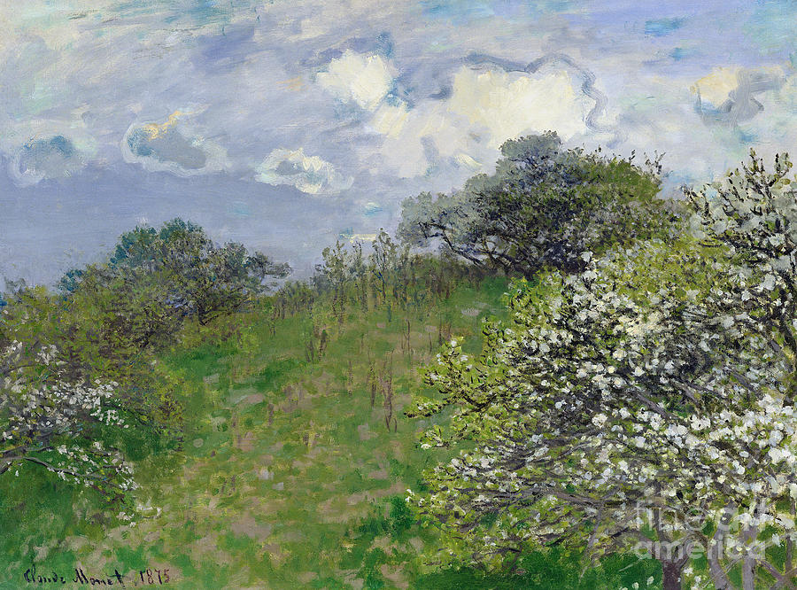 Spring Painting - Spring by Claude Monet