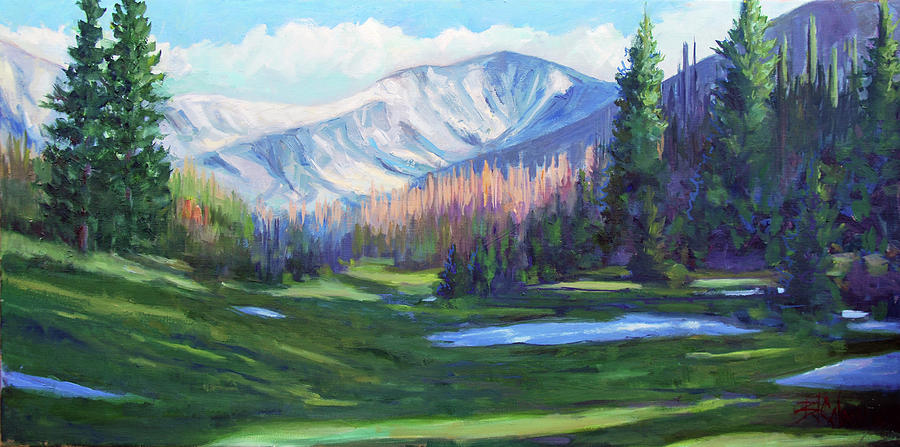 Rocky Mountains Painting - Spring Colors in the Rockies by Billie Colson