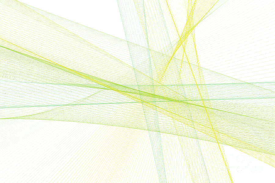 Abstract Digital Art - Spring Computer Graphic Line Pattern by Frank Ramspott