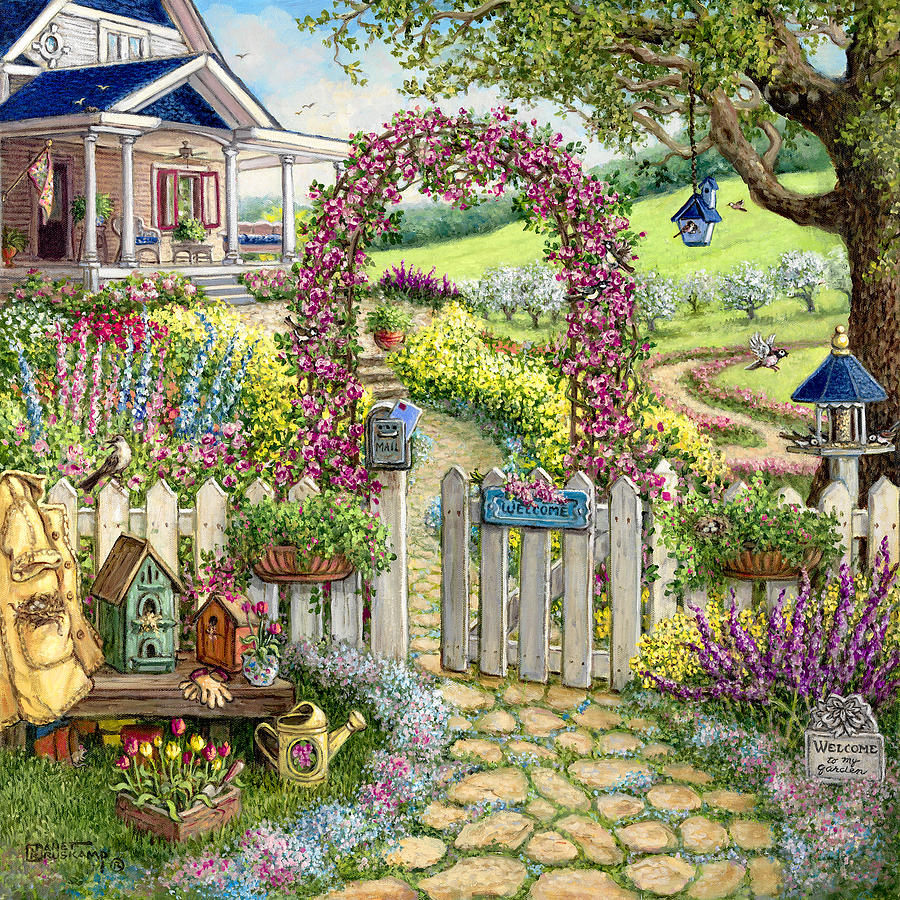 Spring concert painting by janet kruskamp for Spring canvas paintings