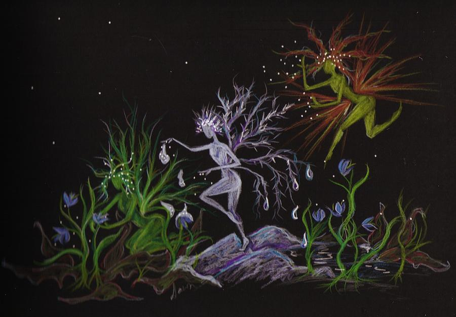 Fairies Drawing - Spring Conflicts by Dawn Fairies