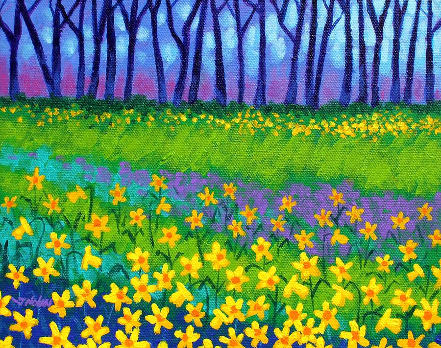 Daffodils Painting - Spring Daffodils by John  Nolan
