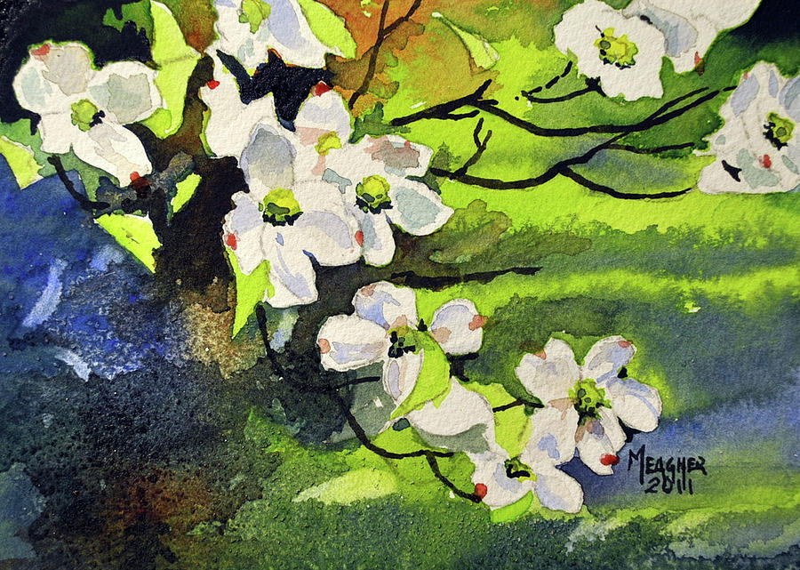 spring dogwoods painting by spencer meagher