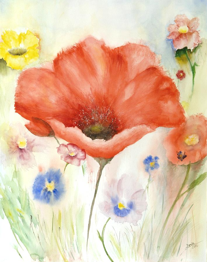 Flowers Painting - Spring by Draia Coralia