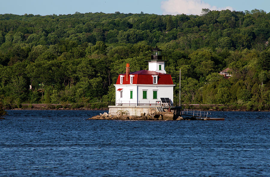 Lighthouse Photograph - Spring Evening At Esopus Lighthouse by Jeff Severson