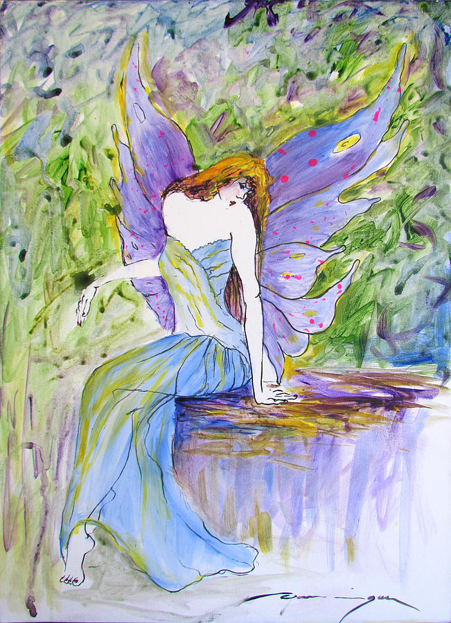 Fairy Painting - Spring Fairie by Dominique Dubois